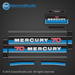 1980 1981 1982 Mercury 70 hp decals decal 70hp