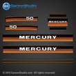 1984 1985 Mercury 50 hp decal set