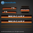 1984 1985 Mercury 75 hp decal set
