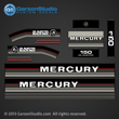 1986 1987 1988 Mercury 150 hp decals decal set 150hp