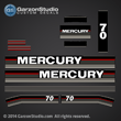 Mercury 70 hp decals 1989 decal set 70hp