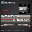 Mercury 150 hp XR4 decals 1990 decal set