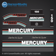 MERCURY 150 hp 1991 1992 1993 decal set DECAL SET merc 93 2.5 liter litre 2.5L Xri EFI decal set