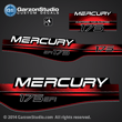 Mercury outboard 1994 1995 1996 1997 1998 175 hp efi 175hp decal set kit sticker  stickers decals graphics