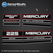 mercury 1994 1995 1996 1997 1998 225 hp 3.0 L offshore xl xxl decal set 824396A93 37-824396A93 decals kit stickers computerized ignition system 225 h.p. horsepower horse power 225hp 3.0 litre liter black max b max counter rotation 814277A14