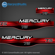 MERCURY 75 hp 1994 1995 1996 1997 1998 1999 823407A00 decal set red 75hp