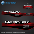 MERCURY 115 hp 1994 1995 1996 1997 1998 1999 823407A00 decal set red