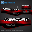 MERCURY 100 hp 1994 1995 1996 1997 1998 1999 decal set red 100hp 823404A96