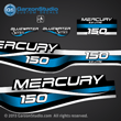 1999 2000 2001 Mercury 150 hp EFI Bluewater decal set 809687A99