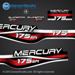 1999 2000 2001 Mercury 175 hp EFI Bluewater 809688A99 decal set Red theme