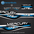 1999 2000 2001 Mercury 175 hp EFI Bluewater 809688A99 decal set