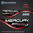 1999 1998 Mercury 225 hp OPTIMAX decal set 855405A98 RED