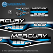 1999 2000 2001 Mercury 225 hp EFI Bluewater  decal set 809693A00