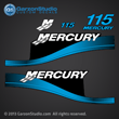 2004 MERCURY 115 hp ELPTO decals sticker stickers 37-803165A00 DECAL SET BLACK 115 - BLUE 803165A00