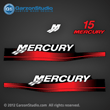 99 00 01 02 03 04 05 06 MERCURY 15 hp decal set red decals 15hp 1999 2000 2001 2002 2003 2004 2005 2006 37-13478A00