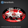 Mercury very-low emission california emission standards red decal sticker
