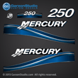 05 06 07 2005 2006 2007 250 hp 250hp Mercury FourStroke optimax decal set decals blue