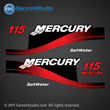 2004 MERCURY 115 hp ELPTO decal set BLUE