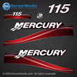 05 2005 MERCURY 115 hp saltwater decal set blue four stroke fourstroke 4 stroke decals 115hp