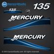 05 06 07 2005 2006 2007 Mercury 135 hp 135hp horsepower FourStroke optimax decal set decals blue