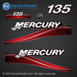05 06 07 2005 2006 2007 Mercury 135 hp 135hp horsepower FourStroke optimax decal set decals red