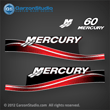 05 06 07 2005 2006 2007 MERCURY 60 hp decal set red decals 60hp