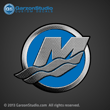2013 Mercury M logo outboard decal 2012 blue sticker