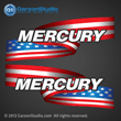 Mercury outboard stickers american flag