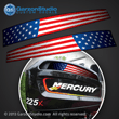 Mercury racing air intake channel U.S. USA United States Flag decal set 2001 2002 2003 2004 2005 2006 motor cover 200 hp200xs 200x 200xshp 225x 225xs 225xshp 225 hp vent sticker stickers