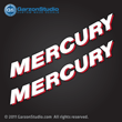 Mercury outboard decals curved letters