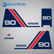 Nissan outboards decals NS90A 1988 1989 1990 1991 1992 1993 1994 1995 1996 1997 1998 1999 2000 2001 2002 90 hp 3B887-8010M MARK SET