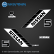 NISSAN MARINE Outboard Decal set 5 hp 5hp 90 91 92 93 94 95 96 97 98 99 NS5B decals sticker stickers