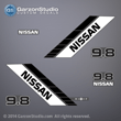 NISSAN MARINE Outboard Decal set 9.8 hp 9.8hp 90 91 92 93 94 95 96 97 98 99 NS9.8B decals sticker stickers