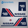 Nissan outboards decals NS8B 1985 1986 1987 1988 1989 1990 1991 1992 1993 1994 1995 1996 1997 1998 1999 2000 2001 2002 18 hp 18hp