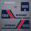 Nissan outboards decals NS9.9B2 1985 1986 1987 1988 1989 1990 1991 1992 1993 1994 1995 1996 1997 1998 1999 2000 2001 2002 9.9 hp 9.9hp