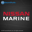 NISSAN MARINE Outboard Decal