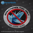 non-ethanol gas decal non-ethanol fuel only sticker  no corn juice