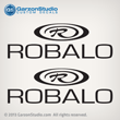 robalo R logo word logo decal set hull decals stickers port side starboard side
