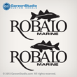 970 1968 1969 r190 center console Robalo Marine boats hull decal set decals stickers 19ft boat