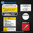Stratos Boats stickers labels capacity capacities hook it nmma warning kit set