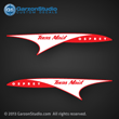 1957 texas maid boat decal set osprey runabout 14ft decals red white sticker hull
