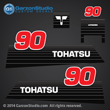 1990 1991 1992 1993 1994 1995 1996 2002 - early Tohatsu 90hp Decal set M90A decal set