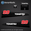 Tohatsu Outboard Decal Tohatsu M9.9C M9.9CEF M9.9CEP 2-stroke carburated Decal set for 1990 1991 1992 1993 1994 1995 1996 1997 1998 1999 2000 2001 2002 and earlier 9.9hp outboards