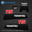 2002 - early Tohatsu 120hp Decal set M120A NE187-8020M decal set
