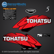 Tohatsu 5 hp 5HP decal set red 5hp decalS 2002 2003 2004 2005 2006 2007 2008 2009 2010 2011 2012 2013 2014 logo sticker stickers