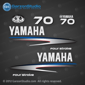 Yamaha Outboard Cowling Stickers